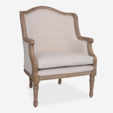 Lilly Upholstered chair - Cream linen fabric..