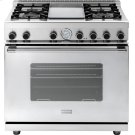 """Range NEXT 36"""" Classic Stainless steel 4 gas, griddle and gas oven Product Image"""