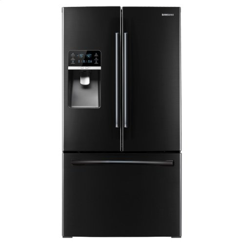 """36"""" Wide, 31 cu. ft. French Door Refrigerator, with Dual Ice Maker (Black)"""
