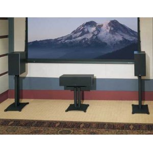 "Black Steel Series 22"" tall for center-channel speakers"