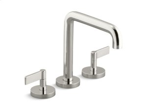 Deck-Mount Bath Faucet, Tall-Spout, Lever Handles - Nickel Silver Product Image