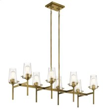 "Alton 46"" 8 Light Linear Chandelier Natural Brass"