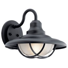 "Harvest Ridge 12.5"" 1 Light Wall Light Textured Black"