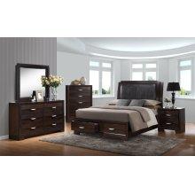 Brandy Dark Storage Bedroom