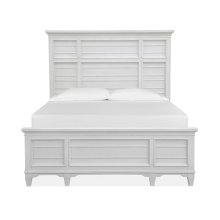Complete Queen Panel Bed - White