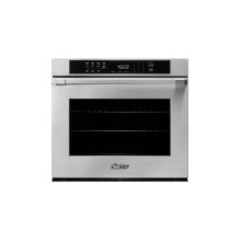"""Heritage 30"""" Single Wall Oven, Silver Stainless Steel with Pro Style Handle"""