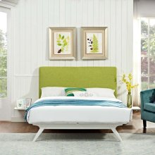 Tracy 3 Piece Full Bedroom Set in White Green