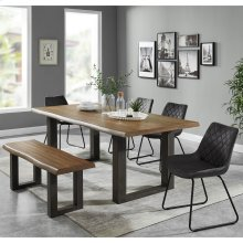 Forrest/Calvin 6pc Dining Set, Charcoal
