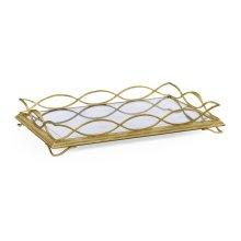 glomise & Gilded Iron Rectangular Tray