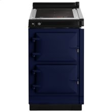"""AGA Hotcupboard 20"""" Induction Dark Blue with Stainless Steel trim"""