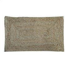 "Rowan Braided Natural Fiber Lumbar Pillow (21"" X 13"")"