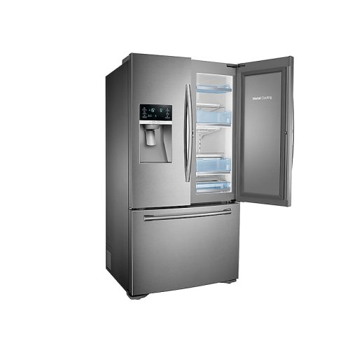 23 cu. ft. Food Showcase Counter Depth 3-Door Refrigerator in Stainless Steel