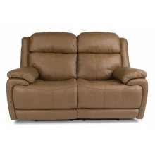 Elijah Leather Power Reclining Loveseat with Power Headrests