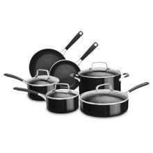 Aluminum Nonstick 10-Piece Set - Onyx Black