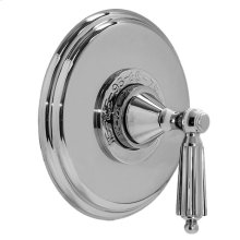 """3/4"""" Thermostatic Shower Set - Deluxe Plate with Georgian Handle"""
