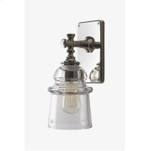 Watt Wall Mounted Single Arm Sconce with Plain Glass Shade STYLE: WLLT01