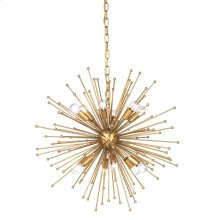 ARCHER CHANDELIER- SMALL  Gold Finished Metal