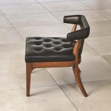 Moderno Chair-Black Marble Leather