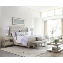 Lilly - Upholstered Bed Bench - Champagne Finish