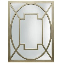 SAVOY MIRROR  Champagne Metal Frame  Plain Glass Beveled Mirror