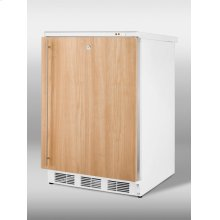 Freestanding medical all-freezer capable of -25º C operation, with integrated door frame for full overlay panel and front lock