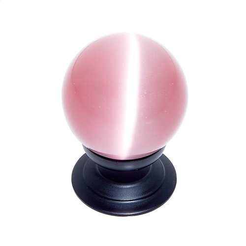 Oil Rubbed Bronze 30 mm Pink Cat's Eye Knob