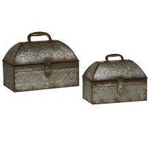 Galvanized Storage Chest (2 pc. set)