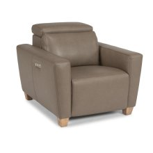 Astra Leather Power Recliner with Power Headrest