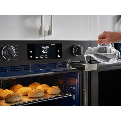 "30"" Flex Duo Chef Collection Single Wall Oven in Matte Black Stainless Steel"