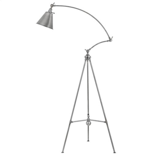 60W Merton Metal Adjust able Tripod Floor Lamp With Metal Shade