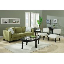 Loveseat With 2 Pillows - Apple