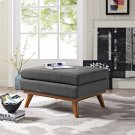 Engage Upholstered Fabric Ottoman in Gray Product Image