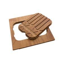 Iroko-wood twin chopping board 8644 004