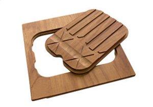 Iroko-wood twin chopping board 8644 004 Product Image