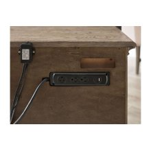 Aldine Three Drawer Nightstand