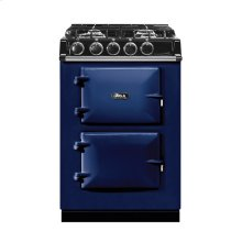 """AGA City 24"""" Electric/Natural Gas Dark Blue with Stainless Steel trim"""