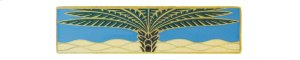 Royal Palm (Horizontal) - Antique Brass/Periwinkle Product Image