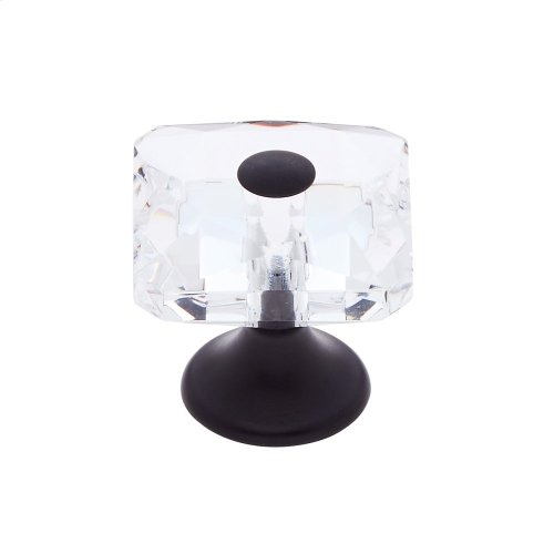 Oil Rubbed Bronze 28 mm Square Crystal Knob