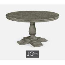 "55"" Circular Extending Dining Table in Antique Dark Grey"
