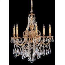 Novella 6 Light Clear Swarovski Strass Crystal Chandelier