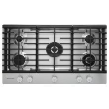 "36"" 5-Burner Gas Cooktop with Griddle - Stainless Steel"