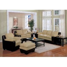 "SOFA/DARK BROWN 80""X36""X36""H"