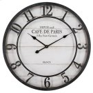 Cafe De Paris Shiplap Wall Clock Product Image