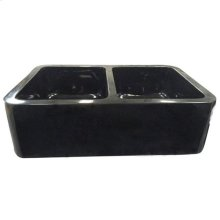 "Atlanta Double Bowl Granite Farmer Sink - 33"""
