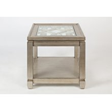 Casa Bella End Table- Vintage Silver