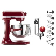 Exclusive Bowl-Lift Stand Mixer & Spiralizer Attachment Set - Empire Red