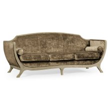 Empire Sofa - Grey Weathered & Velvet Calico