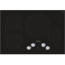 30-Inch Masterpiece® Knob Control Electric Cooktop, Black, Frameless