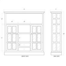 Cape Cod Kitchen Cupboard w/ Drawers