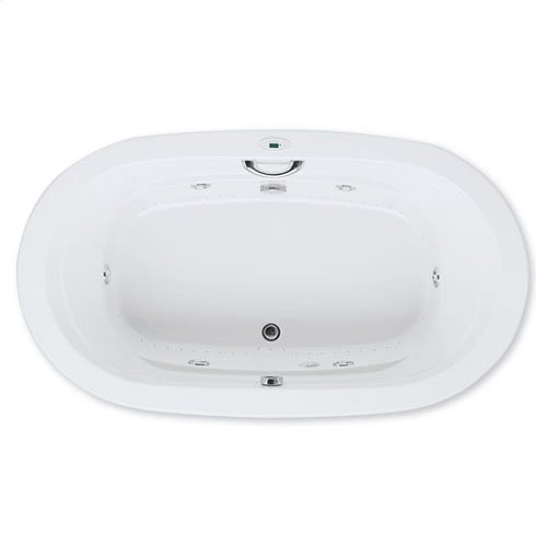 "Easy-Clean High Gloss Acrylic Surface, Oval, Whirlpool Bathtub, Premiere Package, 42"" X 72"""